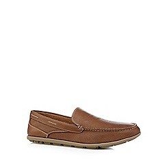 Rockport - Tan 'Adiprene' leather slip on shoes