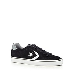 Converse - Black suede star trainers