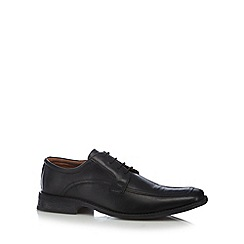 Hush Puppies - Black leather apron toe lace up shoes