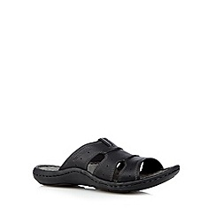 Hush Puppies - Black leather mule sandals