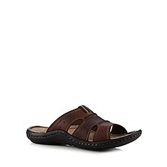 Hush Puppies - Brown leather mule sandals