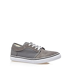 FFP - Grey mixed suede lace up trainers