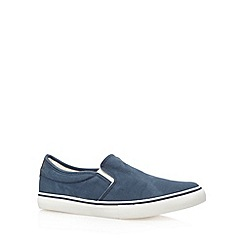 FFP - Navy canvas slip on shoes