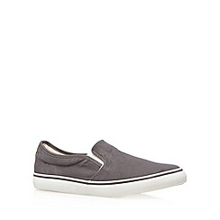 FFP - Grey canvas slip on shoes