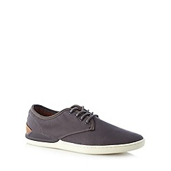 FFP - Dark grey lace up plimsolls