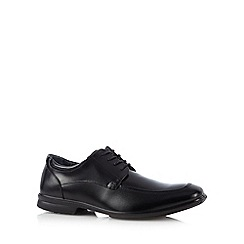 Hush Puppies - Black leather apron front shoes
