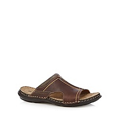 Hush Puppies - Brown mule sandals