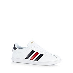 adidas - White 'Neo Court' leather trainers
