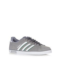 adidas - Grey 'Derby' suede trainers