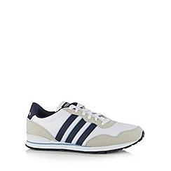 adidas - White 'Jogger' lace up trainers