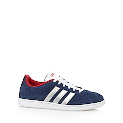 adidas - Navy 'Ad Vlneo' suede blend trainers