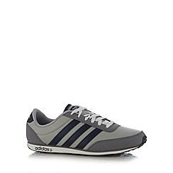 adidas - Grey 'V Racer' trainers