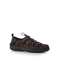 Hush Puppies - Brown leather cord strap sandals