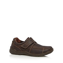 Hush Puppies - Brown leather single strap shoes