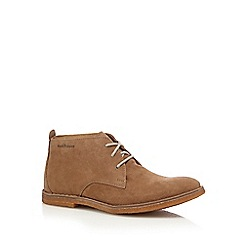 Hush Puppies - Tan suede lace up desert boots