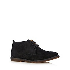 Hush Puppies - Black suede lace up desert boots