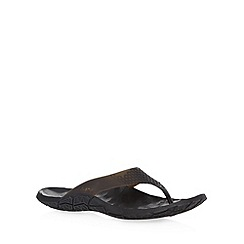 Cushe - Black moulded toe flip flops
