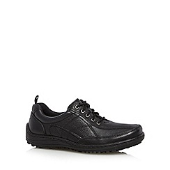 Hush Puppies - Black grained leather lace up shoes