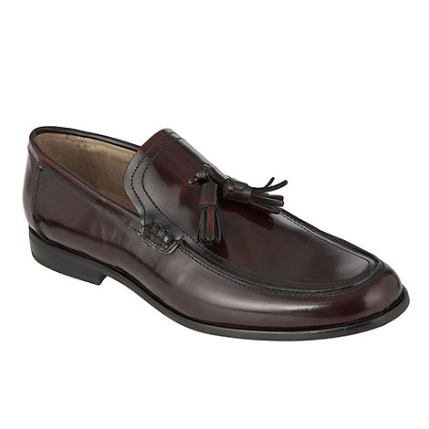 Jeff Banks - Designer plum olive loafer shoes