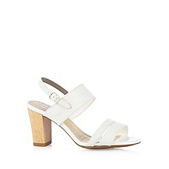 Hush Puppies - White textured high sandals