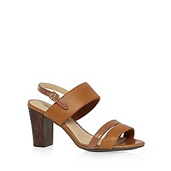 Hush Puppies - Tan leather blend high sandals