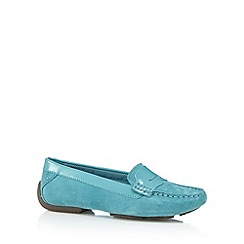 Hush Puppies - Dark turquoise suede slip on shoes