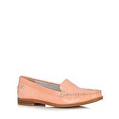 Hush Puppies - Peach patent leather loafers