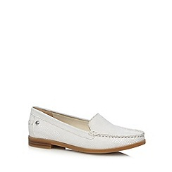 Hush Puppies - White snakeskin slip on shoes