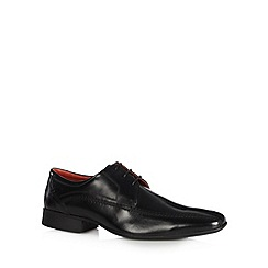 Jeff Banks - Designer black leather heavy stitched lace up shoes