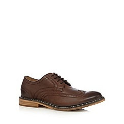 RJR.John Rocha - Designer chocolate leather wing tip brogues