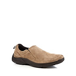 Henley Comfort - Tan suede slip on shoes