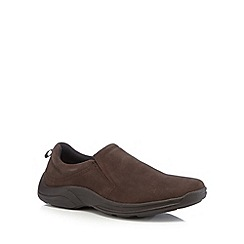 Henley Comfort - Chocolate suede slip on shoes