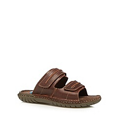 Henley Comfort - Chocolate leather walker mule sandals