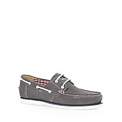 Maine New England - Grey suede boat shoes