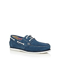 Maine New England - Blue suede boat shoes