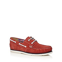 Maine New England - Red suede boat shoes