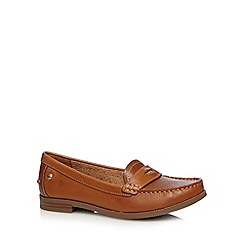 Hush Puppies - Tan coin detail loafers