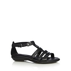 Hush Puppies - Black leather T-bar sandals