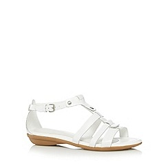 Hush Puppies - White leather cross over sandals
