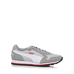 Puma - Grey 'St Runner' lace up trainers