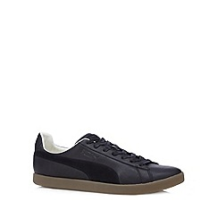 Puma - Black 'Modern Court' suede trainers