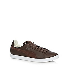Puma - Brown 'Modern Court' suede trainers