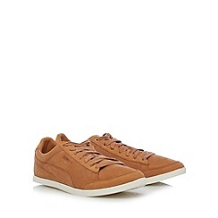 Puma - Tan 'Catskill Citi' leather trainers