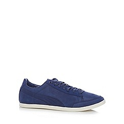 Puma - Navy 'Catskill Citi' leather trainers