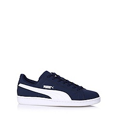 Puma - Navy 'Smash Nubuck' trainers