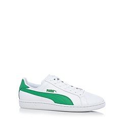 Puma - White 'Smash' leather trainers
