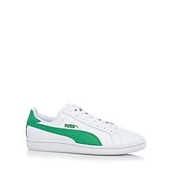 Puma - White 'Smash' leather trainers