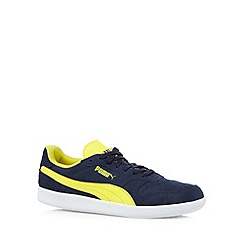 Puma - Navy 'Icra' suede trainers