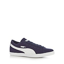 Puma - Navy 'Elsu CV' lace up trainers