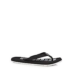 Puma - Black fabric strap flip flops